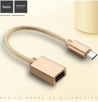 HOCO Brand Type C OTG Cable Adapter Type C Male To USB Female Data Converter For