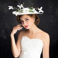 תמונה ילדה כלה בארה 'ב נובל ליידי אירועים קוקטייל גרייס ויפה נשים מגבעת פרח Fascinator Sinamay