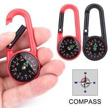 Карабин Крюк повесить пряжка-Компас тактика компас висящий 2 цвета пластиковый Портативный прочный практичный путешествия