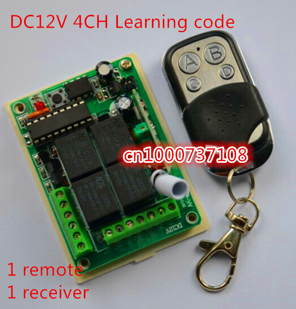 AK-RK04S Smart Home DC12V 4CH RF switch remote 315M/433.92mhz receiver digital wireless remote control Power switch relay smart sm83 04