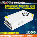 DC Power Supply 5V 40A AC 96V-240V Converter Adapter DC 5V 200W LED Driver Switching Power Supply for LED Strip DVR CE FCC Cert