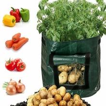 Diy sadzarka do ziemniaków PE tkaniny sadzenia torba pojemnik warzyw ogrodnictwo jardineria zagęścić doniczka ogrodowa sadzenia powiększająca torba