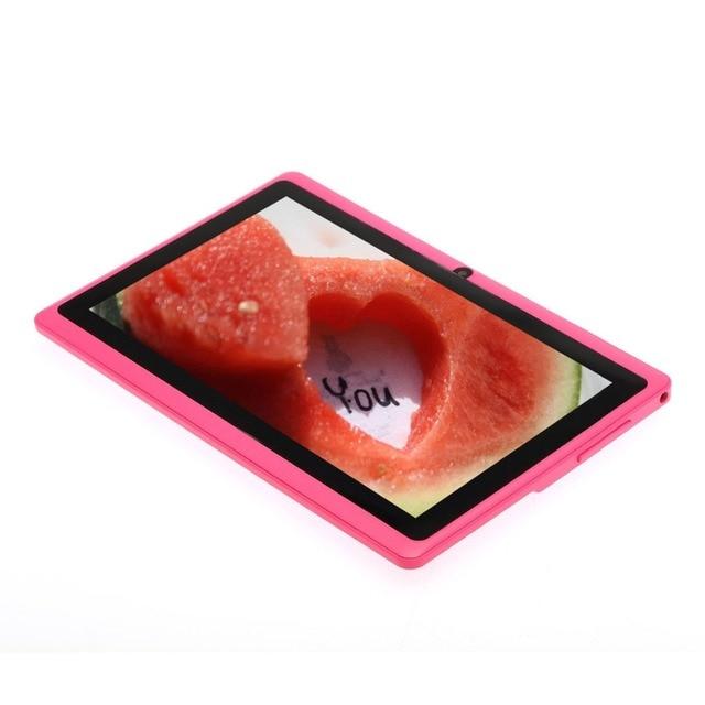 "7 ""Tablet PC Android 4.4 Quad Core Bluetooth WiFi 8 GB ROM Capacitiva Quad Core Rosa Cámara de PC de la Tableta 7 8 9 10 android tablet pc"