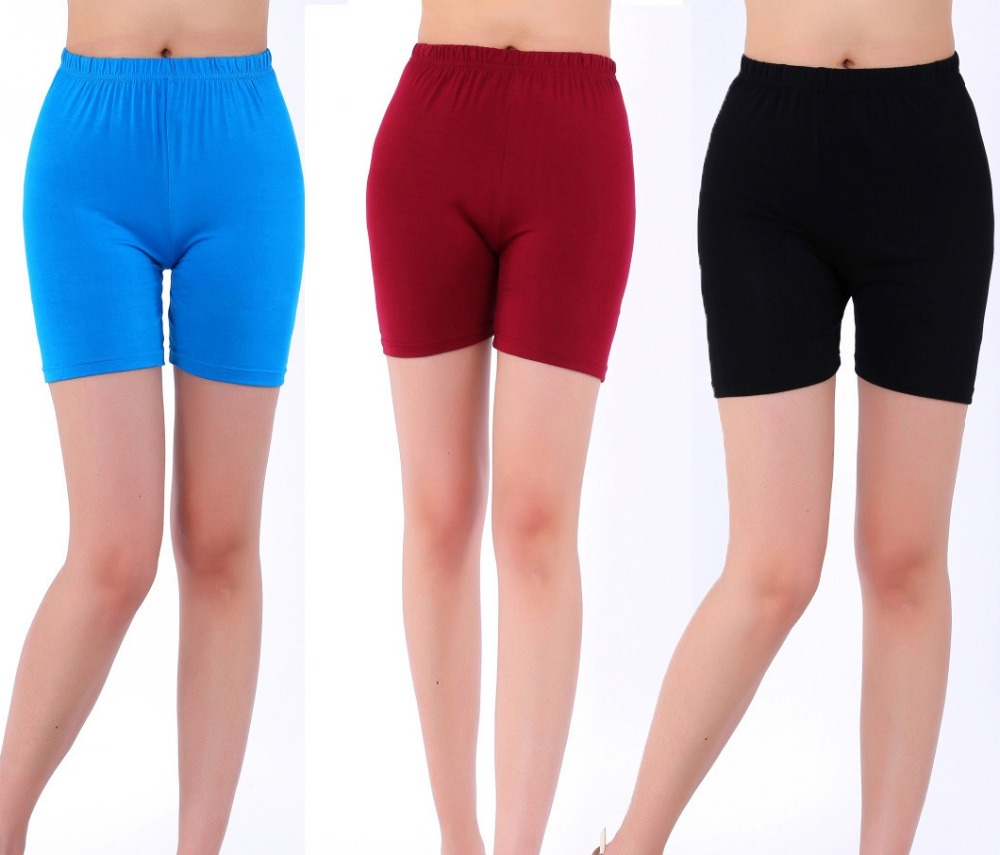 2018 New Arrival Candy Colors Modal   shorts   women summer style plus size 5XL women's   short