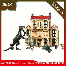 2018 New Jurassic World 2 Indoraptor Rampage at Lockwood Estate Building Block Brick Toys Children Compatible With Legos 75930