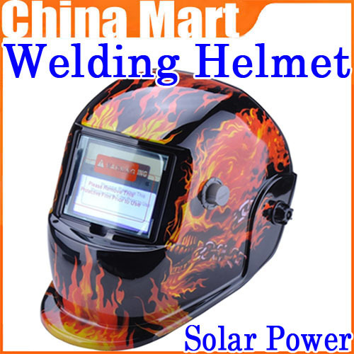 Free Shipping Solar Power Auto Darkening Welding Helmet Grinding Mask Filter Skull XDH