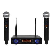 Lomeho LO U02 2 ручные UHF частоты динамическая капсула 2 канала беспроводной микрофон для караоке системы