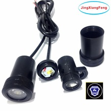 JingXiangFeng case for GAZ 12v Ghost Shadow Light LED Car Logo Projector Decorative Accessories Welcome Door 3D Laser for ford