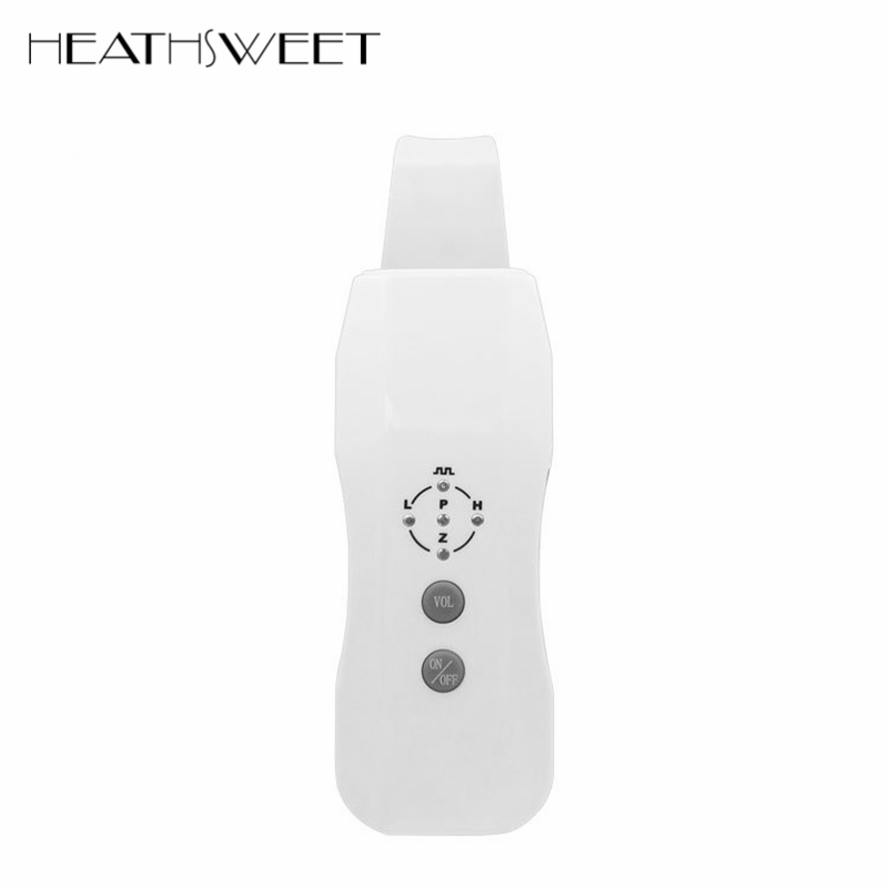 Healthsweet Ultrasonic Face Pore Cleaner Ultrasound Skin Scrubber Galvanic Ion Spa Beauty Device Facial Massager Lifting Machine portable ultrasonic facial cleaner ultrasound face tool pore deep cleaning skin care peeling spa beauty scrubber acne removal