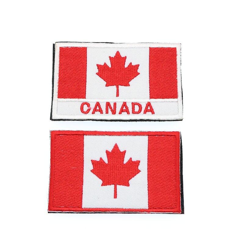Flag And Emblem >> Us 1 06 24 Off Bordir Bendera Kanada Tentara Hook Cincin Tiga Dimensi Taktis Militer Emblem Kain Lambang Kanada Maple Bendera 8 5 Cm In Lencana