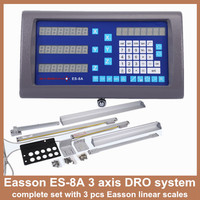 Free shipping high accuracy complete set Easson 3 axis digital readout DRO and 3 piece digital linear encoder