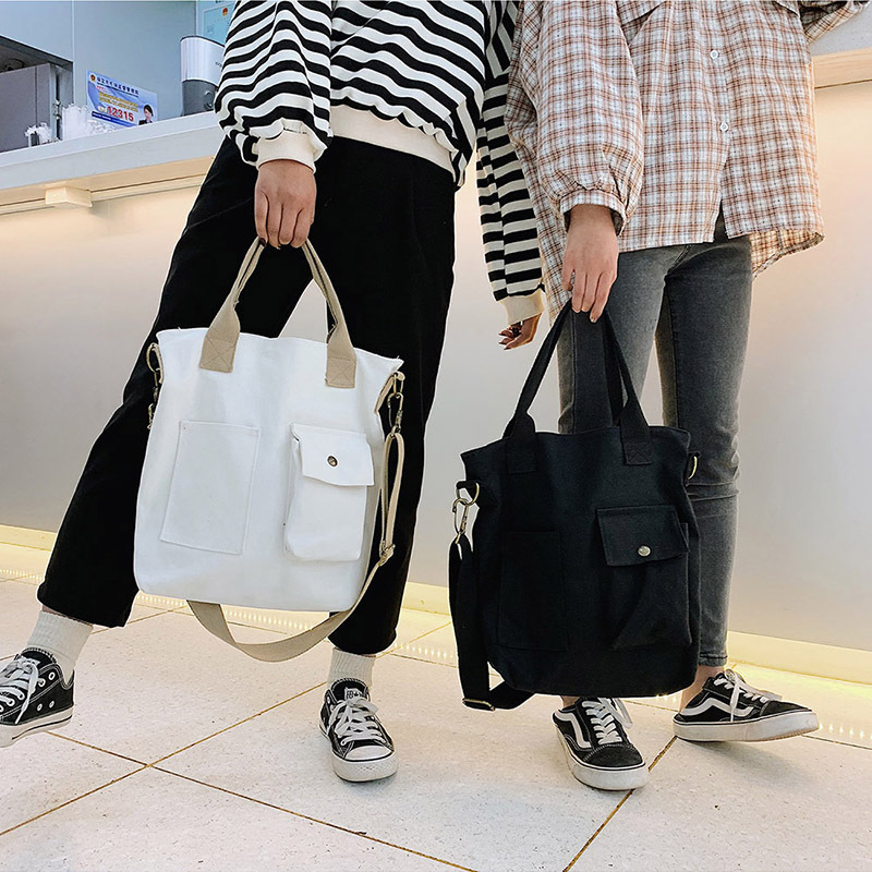 Fashion Women Canvas Messenger Bag Canvas Shoulder Bags 2019 New Hot Female Students School Bags Handbags