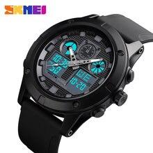 Skmei 1514 relógio digital 2 relógio de exibição de tempo relógio esporte relógios à prova dwaterproof água masculino relógios de pulso relojes hombre