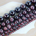 "wholesale 4.6.8.10.12mm Natural Dark Red Garnet Round beads 15.5"" Pick Size Free Shipping-F00100"