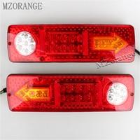 12V High Quality 23 LED Trailer Tail Braking Turning Reversing Lights 2PCS Caravan Trailer Tail Lights