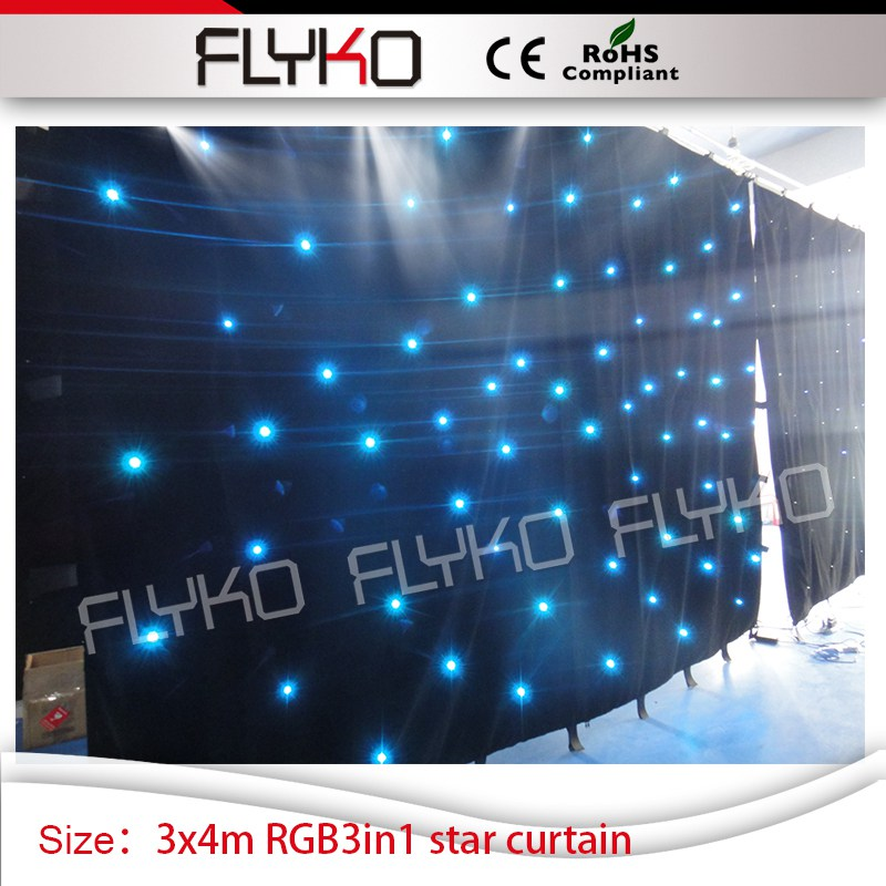 RGB 3in1 changeable led lighting 3x4m fireproof indoor star curtain backdrop|led curtain backdrop|led light backdrop|led backdrops - title=