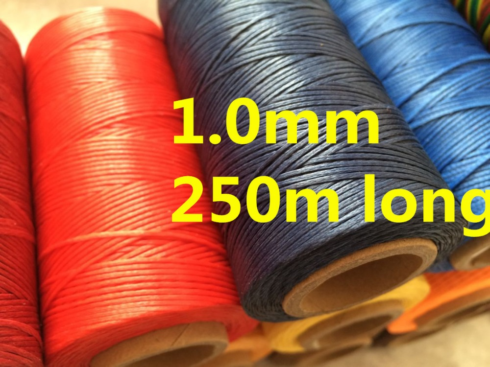 1.0mm Wide 150D 250m Long Sewing Waxed Threads for Leather Swewing