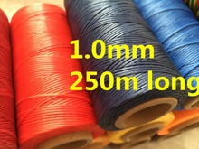 LX001 1.0mm Wide 150D 250m Long Waxed Threads Wax String for Leather Swewing