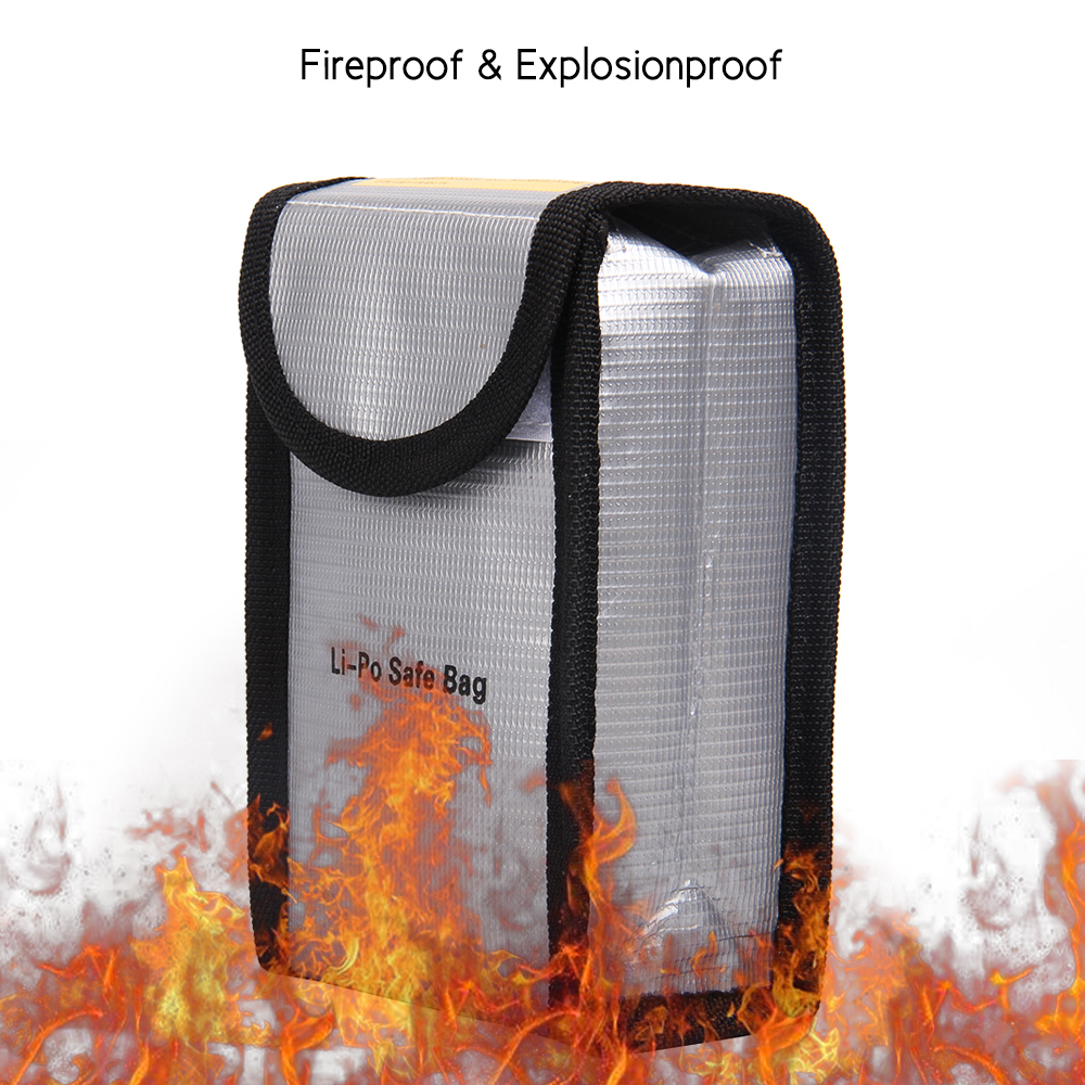 Office Document Folder Fireproof Explosionproof  Battery Safe Bag Portable Heat Resistant Pouch Sack Battery Charge & Storage