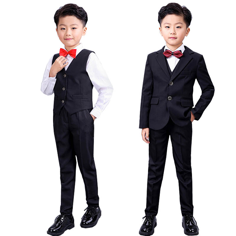 Boys clothes childrens formal suits shirt vest cravat coats pants 5 pcs boys suits for 2-17 years teenager boys clothing