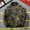 Nova Moda Inverno Parkas Jaqueta de Hip Hop Homens Marca Camuflagem Pluse Tamanho da Força Aérea Bombardeiro Vôo Homens Jaqueta Parkas Quente A2856