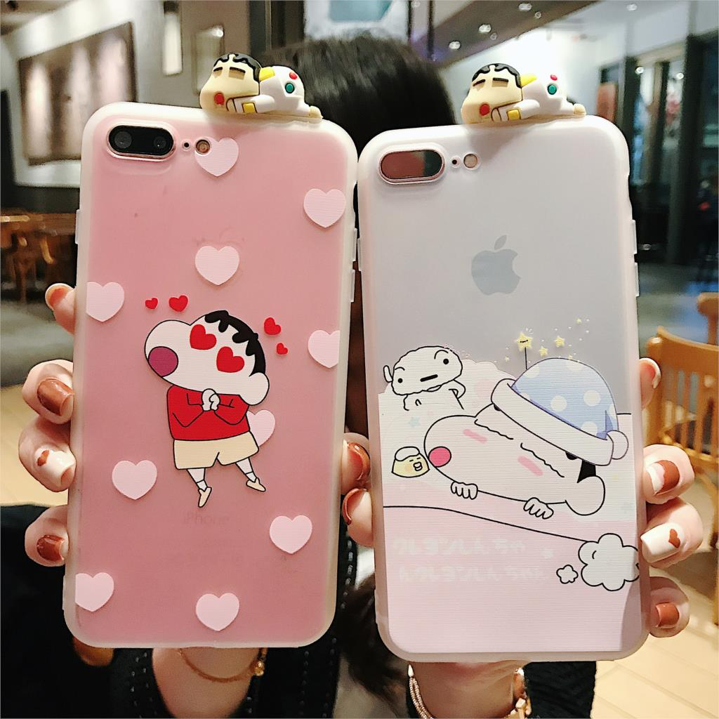For IPhone XR Cute 3D Crayon Shin Chan Case For IPhone X