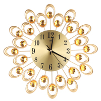Botique 3D Wall Clock Non Ticking Silent Dazzling Wall Clock For Home Kitchen Office Diameter 37cm