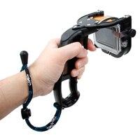 CENINE Handheld Shutter Trigger for GoPro Hero 4 3+ Diving Selfie Monopod Non slip Grip for Go Pro 4 3 Action Camera Accessories