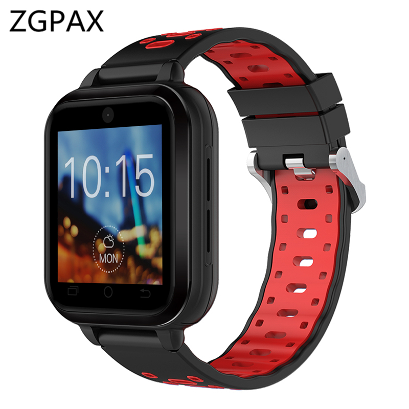 ZGPAX M9 Pro 4G smart watch Android 6.0 MTK6737 Quad Core 1GB/8GB SmartWatch Phone Heart Rate Sim Card Support replaceable strap 4g gps android 6 0 smart watch m5 mtk6737 heart rate monitor support sim card camera business smartwatch for men women 2018 gift