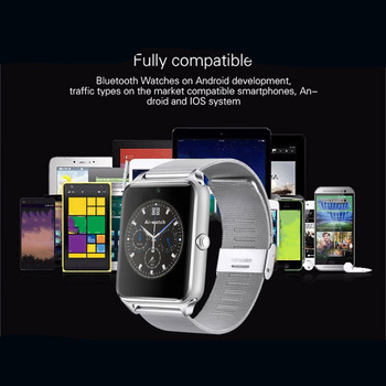 Z60 фитнес-браслет Bluetooth Смарт-часы на запястье с поддержкой камеры Sim TF карты для мужчин/женщин водонепроницаемые спортивные Смарт-часы