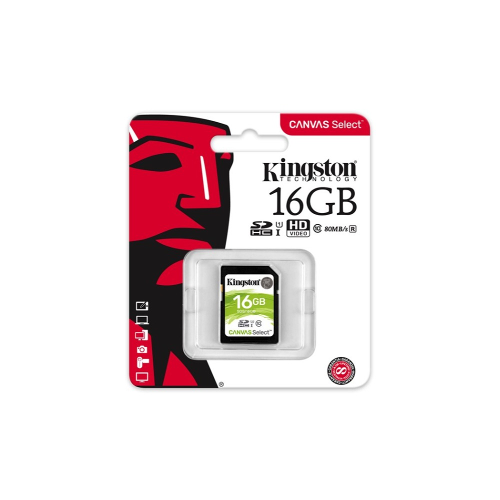 Original Kingston Technology Canvas Select 32GB 64GB 128GB SDHC SDXC Class 10 UHS-I 32 64 128 GB SD Card Camera SD Card SDS