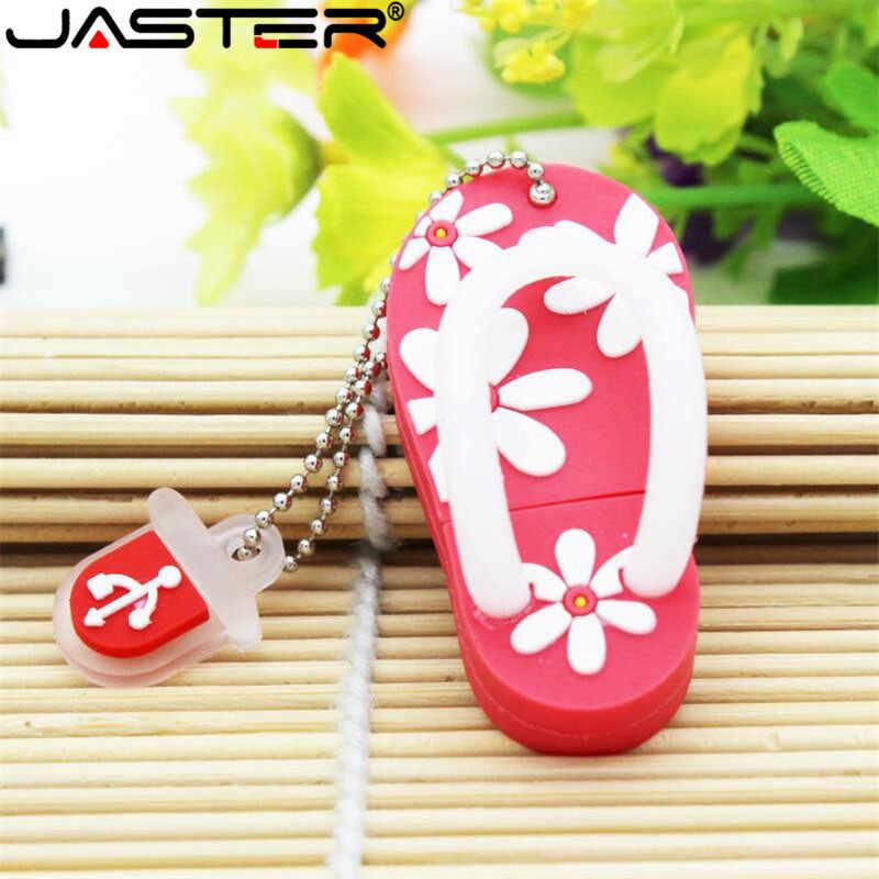 JASTER Verão Chinelo mini USB Flash Drive Presente Encantador dos desenhos animados pendrive 4 GB/8 GB/16 GB/ 32 GB/64 GB usb flash drive memory stick