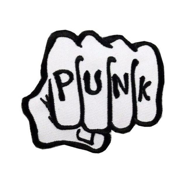 10pcs rock band logo the punk iron and sewing on for clothing rh aliexpress com punk band logo maker punk band logo maker