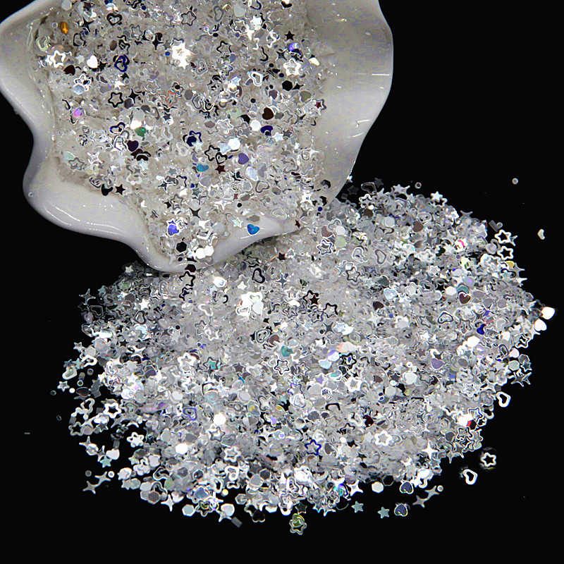 Pailettes High Flash Crystal Dot Star Heart Shape Sequins for DIY Garment Clothing Accessories Paillette Sewing Craft 3mm 10g
