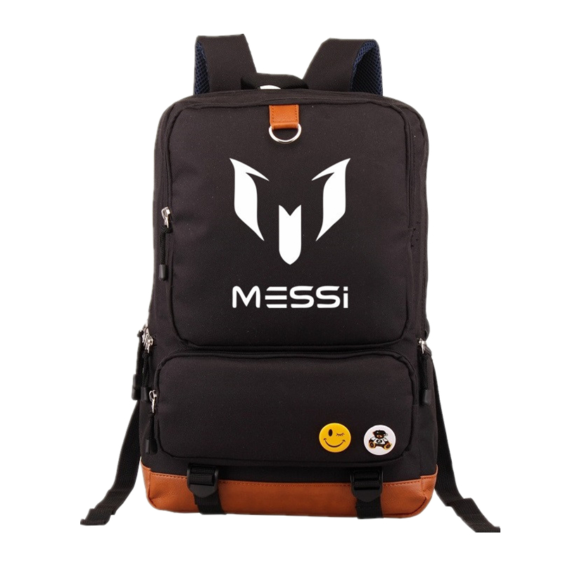 Logo Messi Backpacks Teenagers School bags Backpack Women Laptop bag Men Barcelona Travel Bag Mochila Bolsas Escolar gravity falls backpacks children cartoon canvas school backpack for teenagers men women bag mochila laptop bags