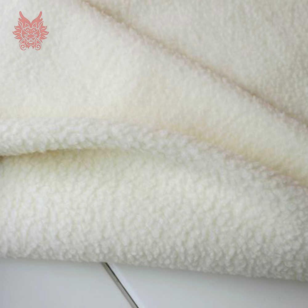 Кремовый белый черный мягкий флис овечьей шерсти ткань для зимнее пальто жилет меховой воротник ягненка tissu tecidos steffons аксессуар «сделай сам» SP4583