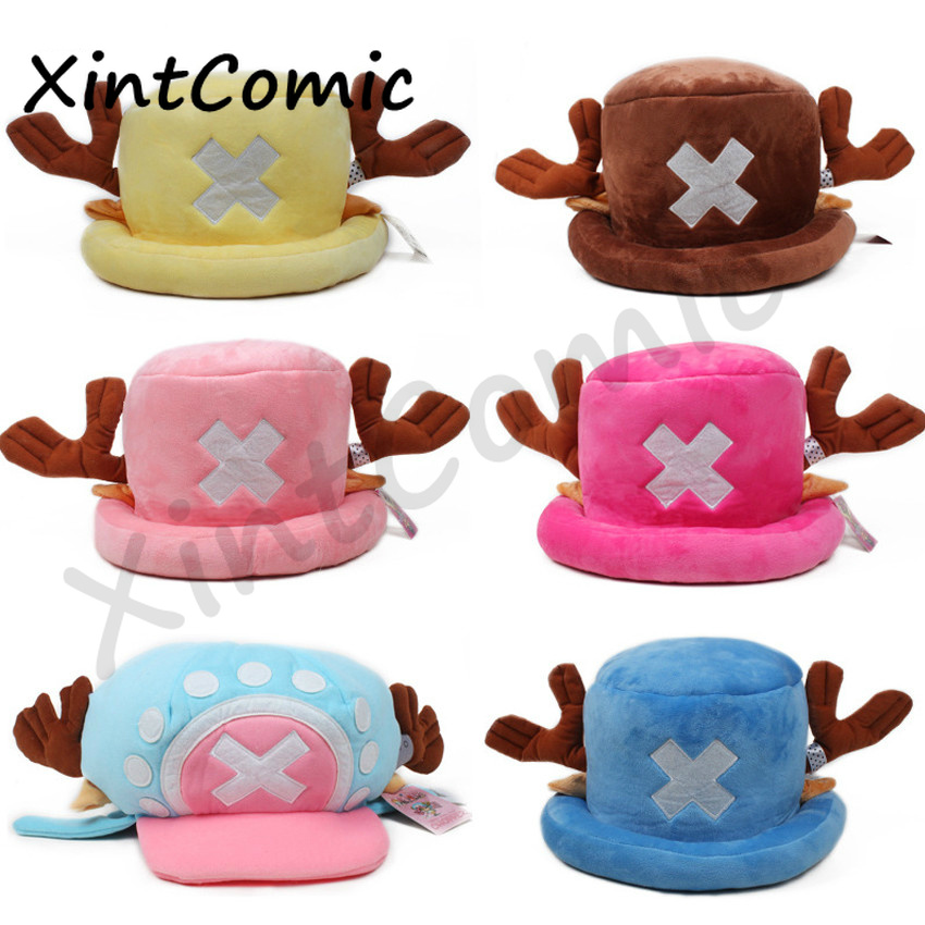 Japanese Muts Anime Cute Hat Cap Chopper One Piece Tony Cosplay Plush Cap Hat Halloween Cartoon Hats Caps