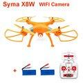 ( con dos baterías ) Original Syma X8W exploradores WiFi FPV Drone sin cabeza modo RC Quadcopter con la cámara RTF 2.4 GHz + caja Original