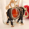 FREE SHIPPING  Fashion Agate Elephant Animal Keychain for Bag/Car Hanger Decoration Keyring for Freind Gifts