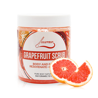 Grapefruit Scrub Body Scrub Cream Facial Dead Sea Salt For Exfoliating Whitening Moisturizing Anti Cellulite Treatment
