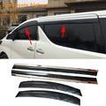Car Stylingg Awnings Shelters 4pcs/lot Window Visors For Toyota Alphard 2010-2016 Sun Rain Shield Stickers Covers