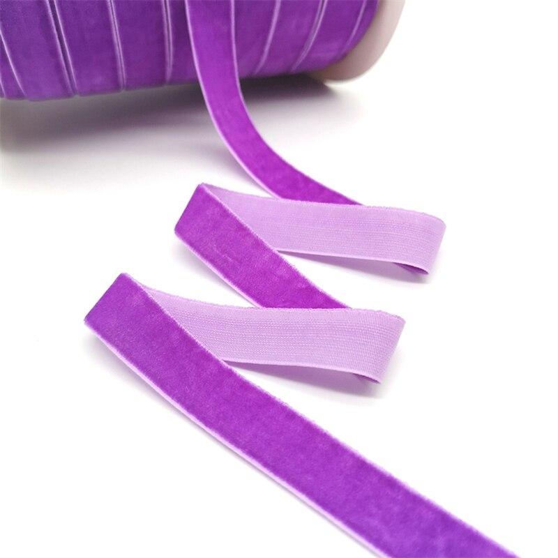 5 ярдов 6-25 мм бархатная лента для украшения свадебной вечеринки ручная работа лента для упаковки подарков бантик для волос DIY Рождественская лента