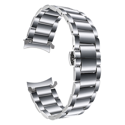 22mm Stainless Steel Watchband Curved End Strap for Samsung Gear S3 Classic Frontier Watch Band Butterfly Buckle Belt Bracelet