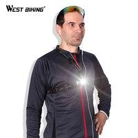 WEST BIKING Night Running Lights LED Warning Chest Light Hiking Flashlight USB Charge Lamp White Light