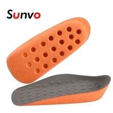Sunvo wysokość zwiększenie wkładki noszenie skarpety dodaj 2cm masaż plastry do stóp oddychające komfort wkładki dla mężczyzn kobiety buty podeszwy