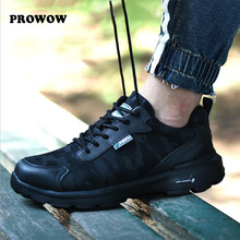 2019 men woman Couple Work shoes Couple Breathable lace-up Steel Toe Anti-smashing anti-piercing Casual safety Boots insulation