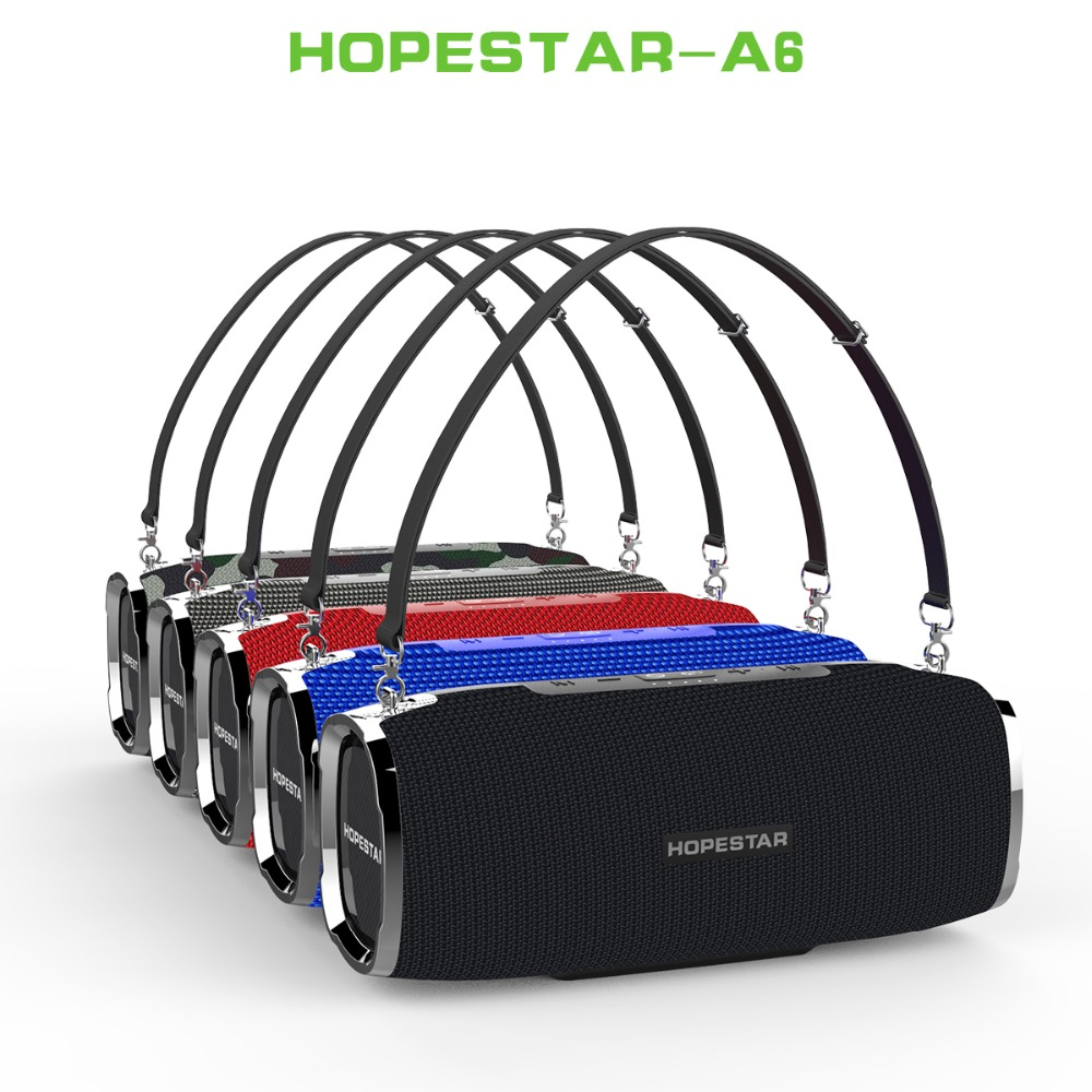 HOPESTAR A6 Bluetooth Speaker Portable Wireless Loudspeaker Sound System 3D stereo Outdoor Waterproof Big Power Bank 35W Music