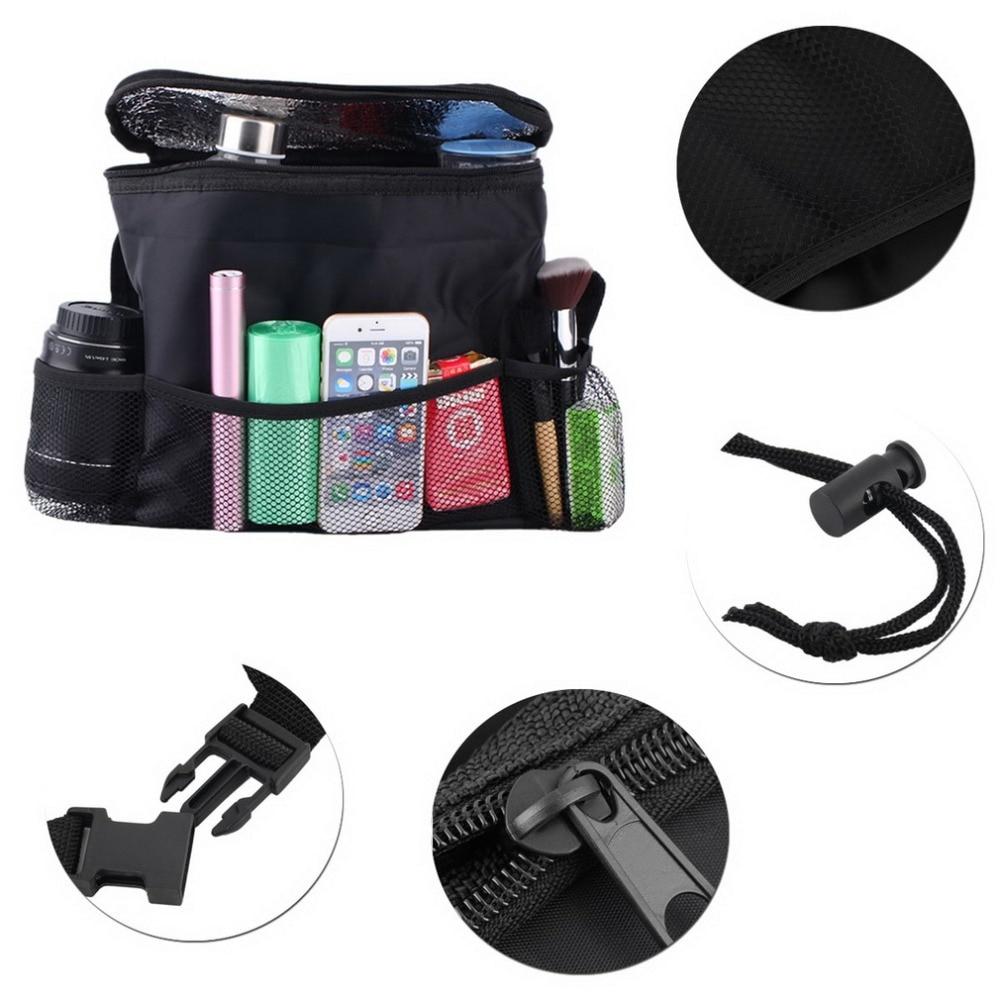 hot sale Car Cooler Bag Seat Organizer Multi Pocket Arrangement Bag Back Seat Chair Car Styling car Seat Cover Organiser~