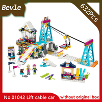 LEPIN 01042 632Pcs Friend Series The Ski Resort Lift Cable Car Model Building Blocks Set Bricks