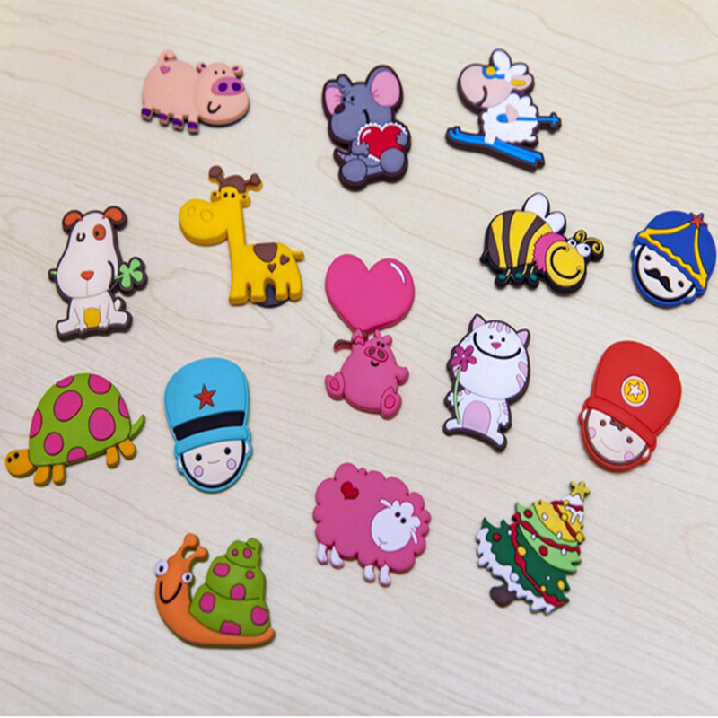 (15Pcs) Cartoon Souvenir Fridge Magnets For Kids Silicon Gel Magnetic Decorative Refrigerator Magnets Animal Magnets Baby Toys